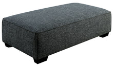Polly Contemporary Gray Fabric Ottoman