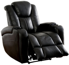Ames Contemporary Power-Assisted Leatherette Recliner, Dark Gray