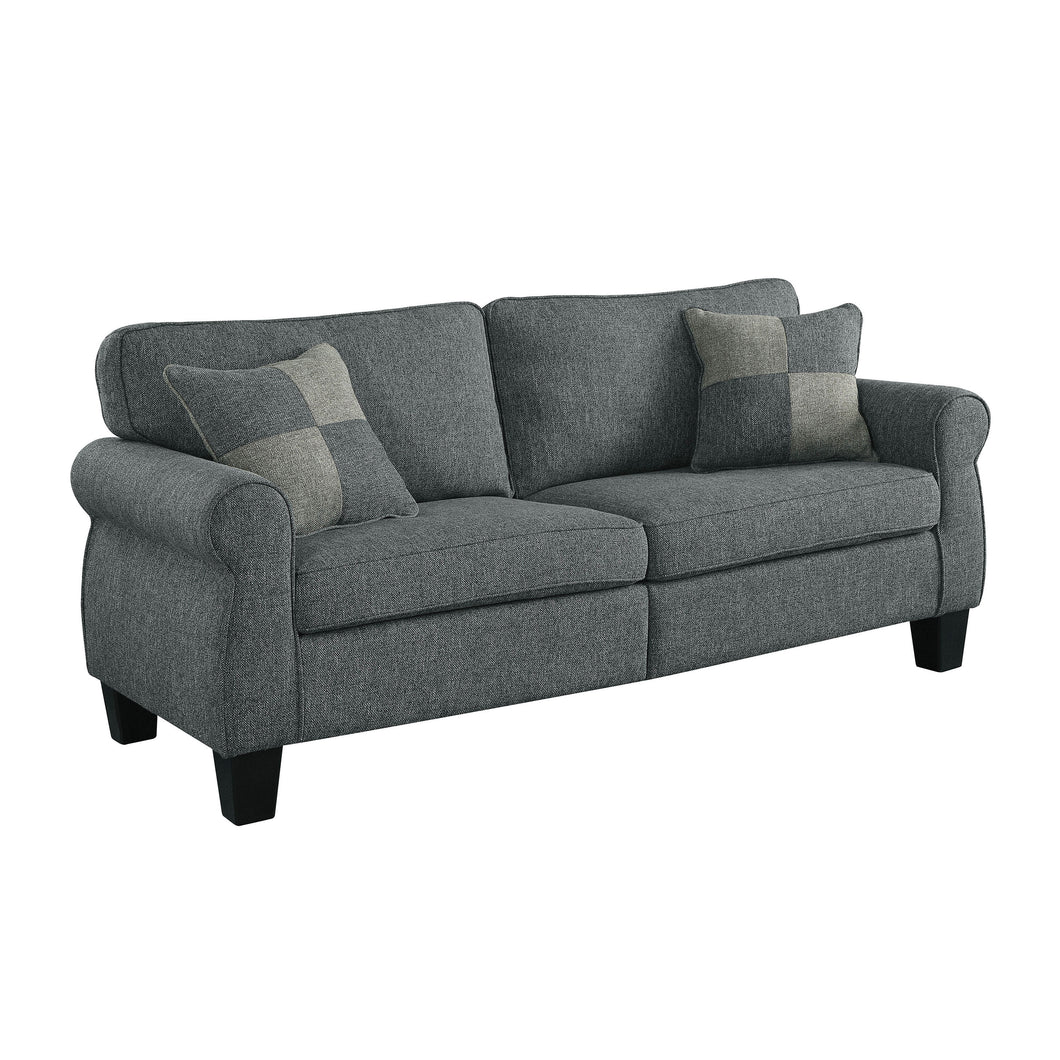 Lainey Transitional Dark Grey Sofa
