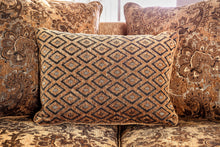 Fenti Traditional Chenille Fabric Loose Back Pillows Love Seat