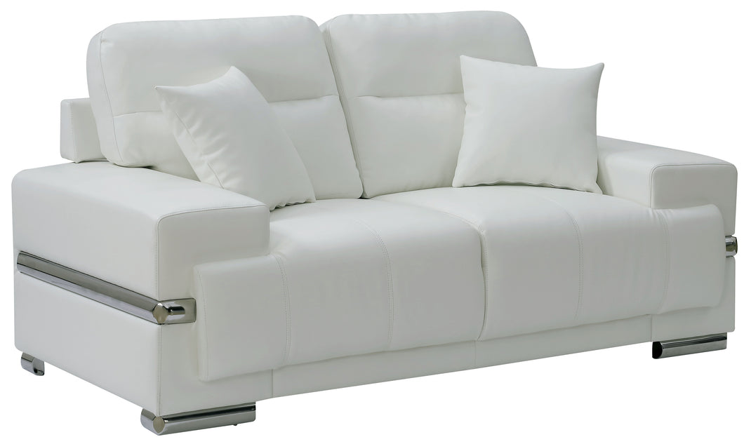 Virdianna Contemporary Breathable Leatherette Love Seat