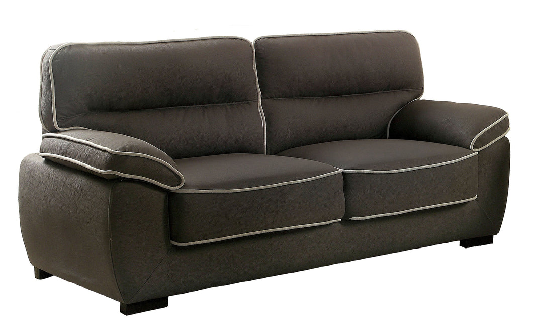 Dollie Contemporary Faux Nubuck Fabric Tufted Graphite Sofa