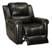 Hennigan Transitional Top Grain Leather Match Recliner
