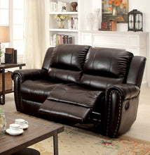 Hennigan Transitional Top Grain Leather Match Reclining Loveseat