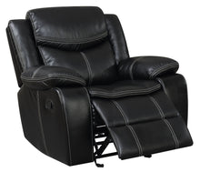 Ceeso Plush Leatherette Black Glider Recliner Chair