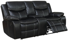 Orlando Transitional Leatherette Plush Loveseat with Storage Console