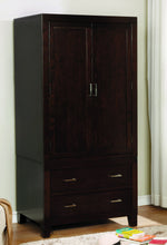 Covington Transitional Multi-Storage Wooden Armoire, Espresso
