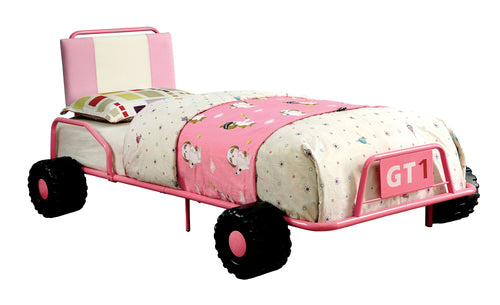 Marselis Contemporary Full Metal Race Car Youth Bed