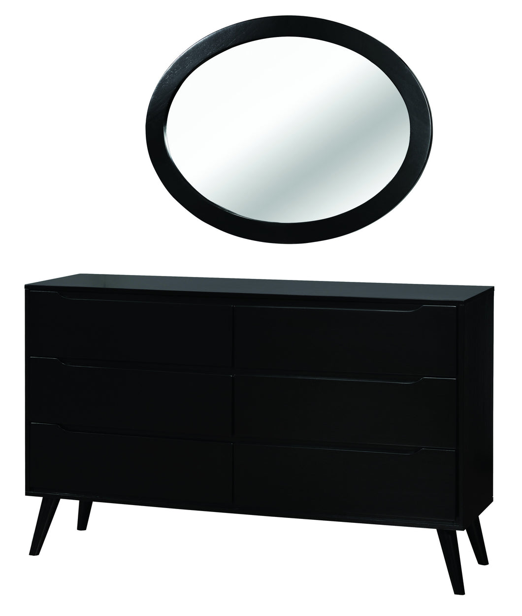 Image of: Garro Mid Century Modern Dresser And Oval Wall Mount Mirror 24 7 Shop At Home