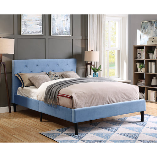 Celinna Contemporary Light Blue Bed