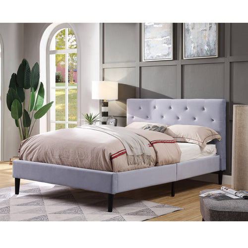 Celinna Contemporary Light Grey Bed