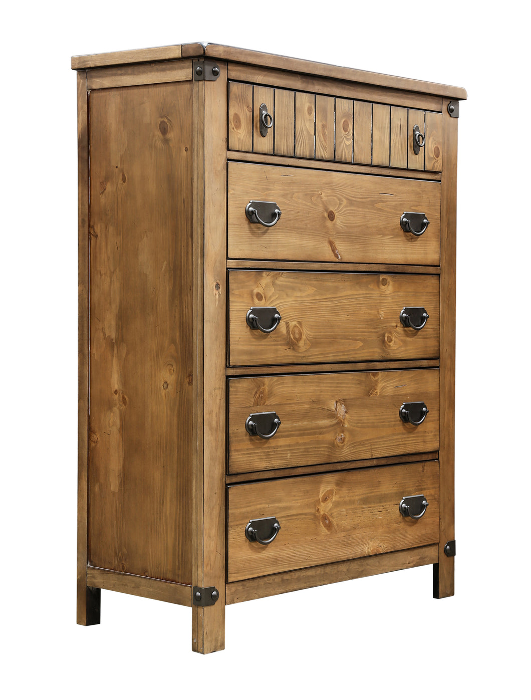 Pioneer Country Style Weathered Elm Bedroom Chest