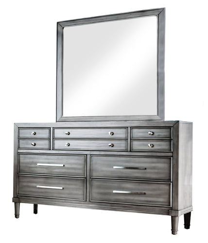 Bahamas Transitional Grey 7-Drawer Dresser and Mirror Set