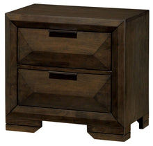 Shirley Contemporary Espresso 2-Drawer Nightstand