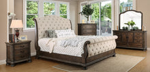 Clarissa Transitional 4-Piece Rustic Natural Sleigh Bedroom Set
