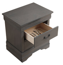 Sina Contemporary Grey 2-Drawer Nightstand