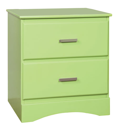 Prismo Transitional 2-Drawer Green Youth Nightstand
