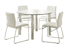Frisco Contemporary 5-Piece Chrome-Plated Steel Round Dining Set