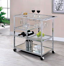 Brookwood Contemporary Chrome Serving Cart