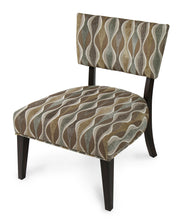 Damessi Contemporary Patterned Fabric Espresso Accent Chair