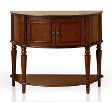 Lofton Traditional Brown Cherry Console Table