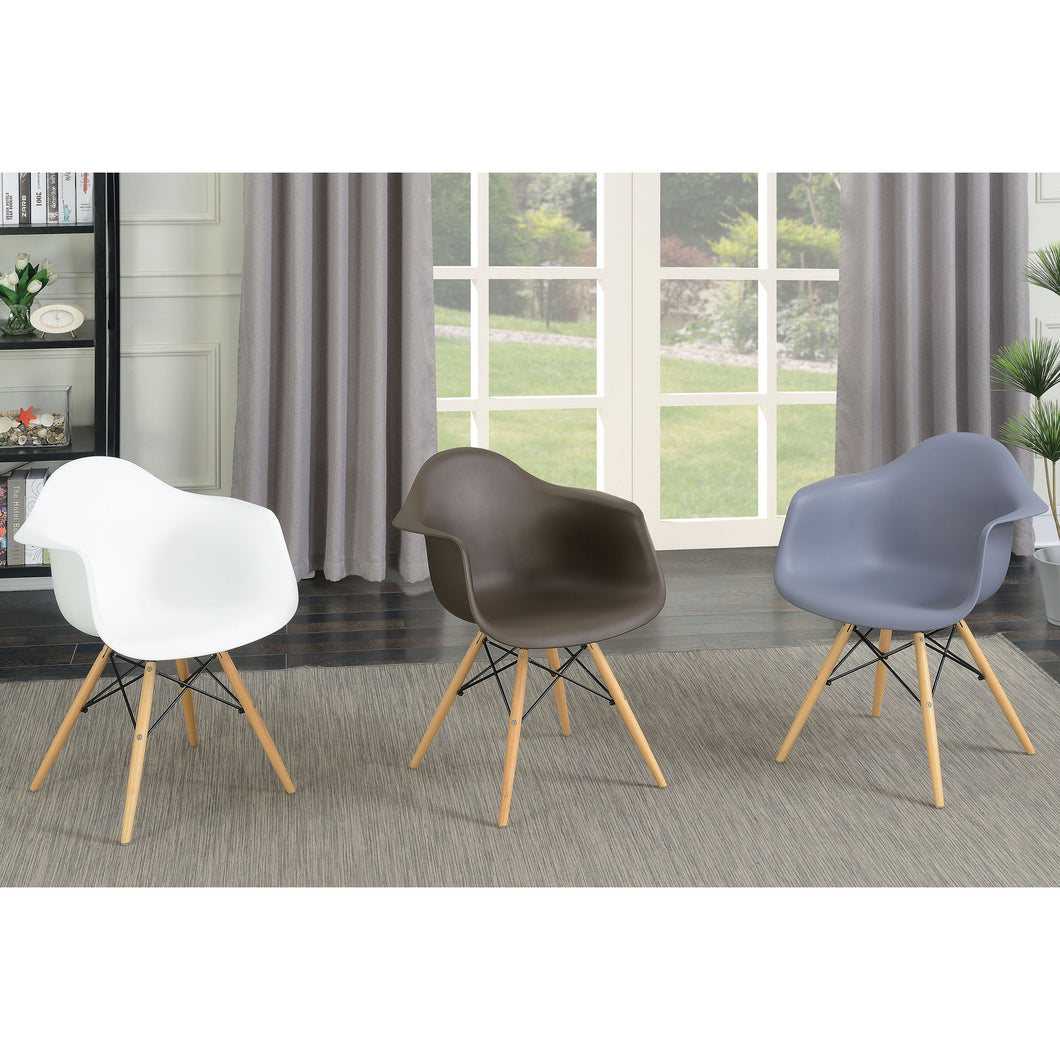 Debbie Mid-century Modern Grey Accent Chairs (Set of 2)