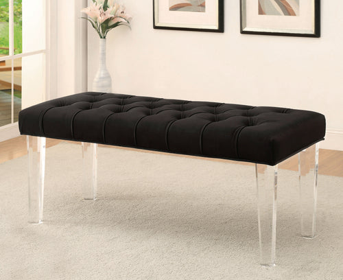 Cressida Modern Flannelette Acrylic Accent Bench