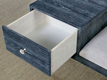 Windham Contemporary Weathered Grey Accent Bench with Drawer