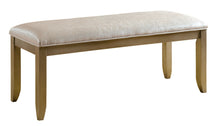 Valeh Modern Silver Fabric Upholstered Accent Bench