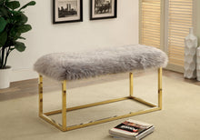 Oliveros Contemporary Fur-Like Upholstered Bench