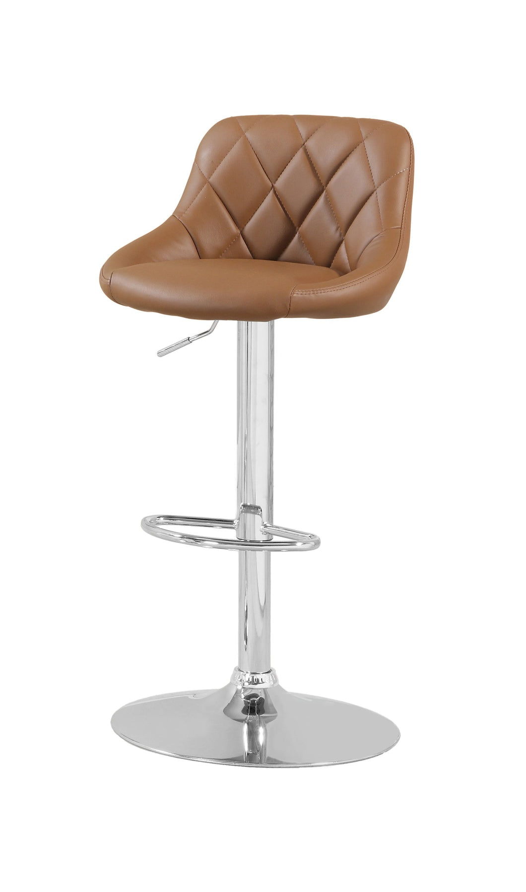Rolly Contemporary Tufted Leatherette Swivel Bar Stool