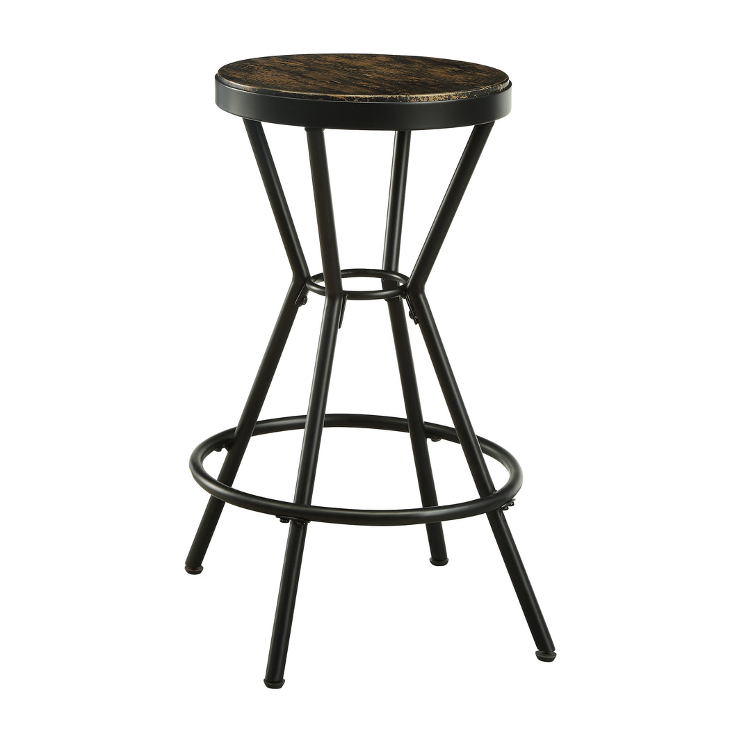 Daytonatown Industrial Black Powder Coating Barstool