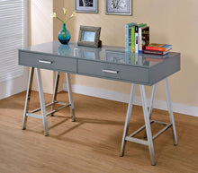Adulla Metal Frame 2-Drawer Computer Desk