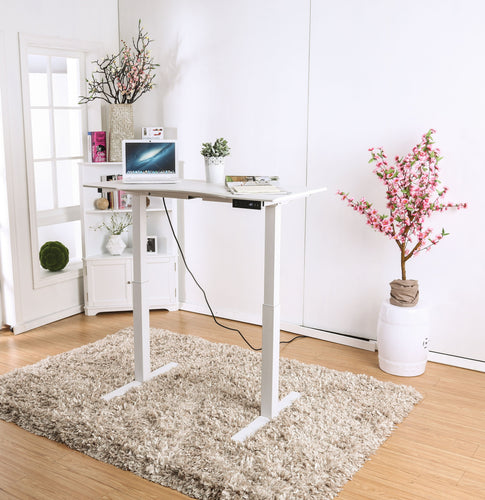 Shuler Contemporary Height Adjustable Desk with USB Power Outlet