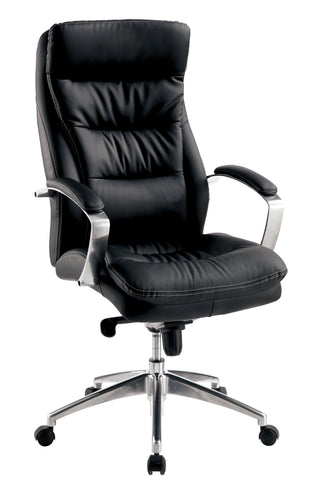 Loki Black Leatherette Upholstered Office Chair