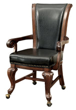 Luthor Traditional Leatherette Caster Wheel Arm Chair