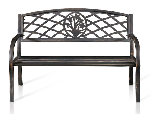 Margot Contemporary Black Outdoor Bench