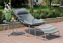 Sawyer Contemporary Wicker Outdoor Chair and Ottoman Set, Gray