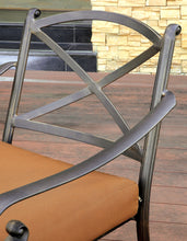 Trejjo Modern Scrolled Arm Aluminum Frame Outdoor Patio Chair (Set of 2)