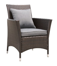 Ladesmis Contemporary Wicker Frame Patio Arm Chair (Set of 2)