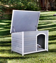 Whitham Transitional Grey and White Plank Style Pet House