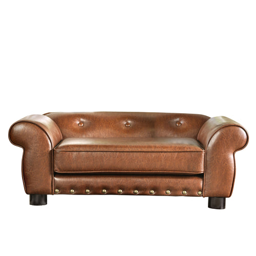 Schnauzer Traditional Brown Pet Sofa