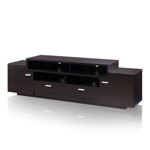 Cordelle Modern 4-Door Cabinet 72-inch Red Cocoa TV Stand
