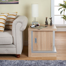 Zeka Single Cabinet Weathered Wood Square End Table