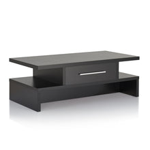 Marko Single Drawer Black Rectangle Coffee Table