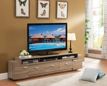 Augustine 84-inch Multi Drawer Light Oak TV Stand