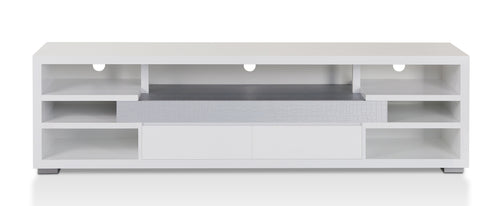 Elaida Contemporary White 70-inch TV Stand