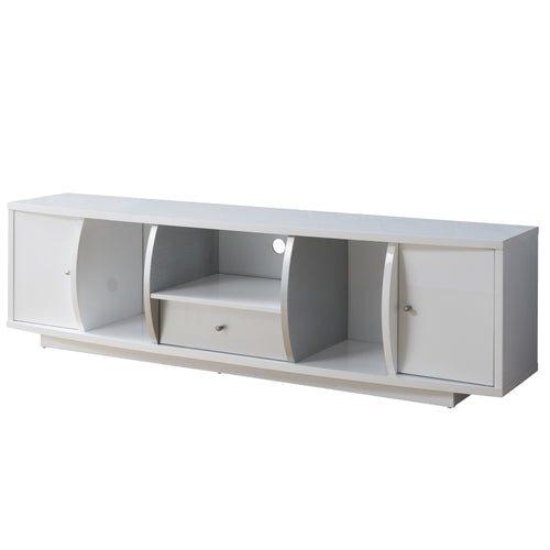 Gather Contemporary 72-inch Glossy White TV Stand