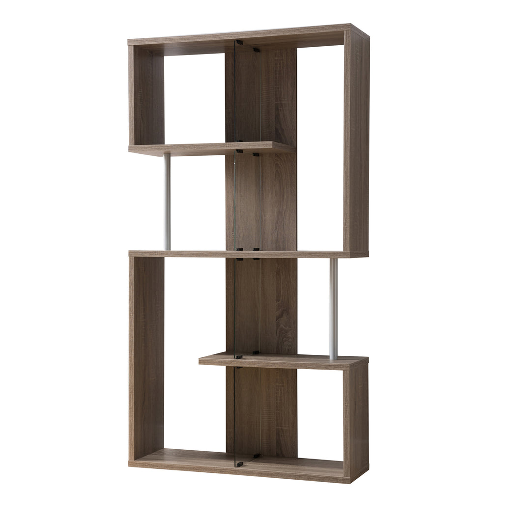 Gallery Contemporary Distressed Taupe Display Cabinet