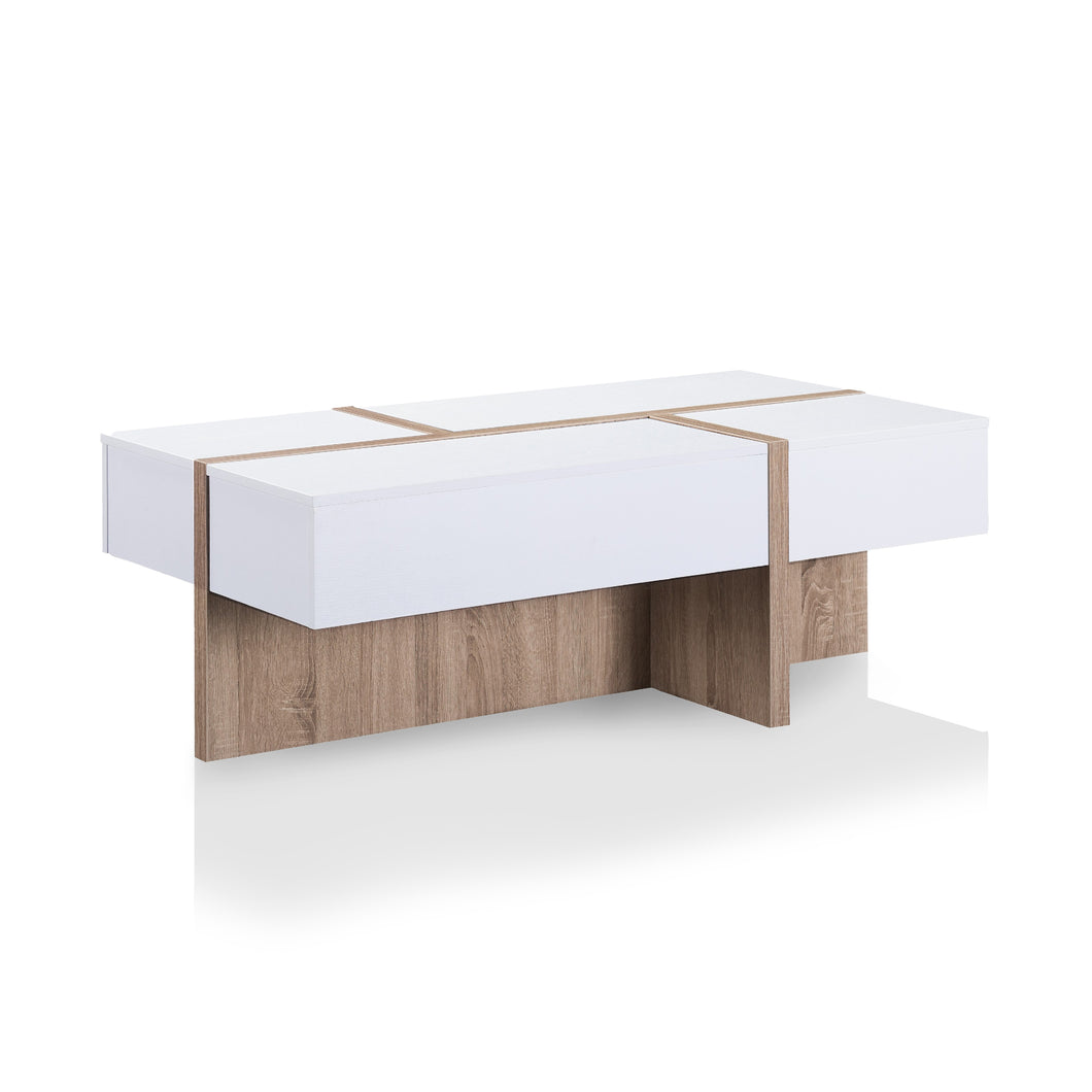 Needham Modern White Coffee Table